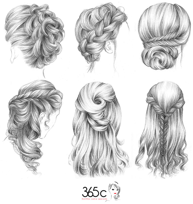 Hairstyle drawing tumblr